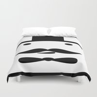 gentleman Duvet Covers featuring Geometric Gentleman by Bryce Reynolds