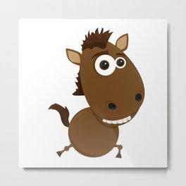 Cartoon Horse Metal Print