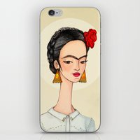 frida iPhone & iPod Skins featuring Frida by Renia