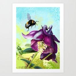 Bee flying 14 Art Print