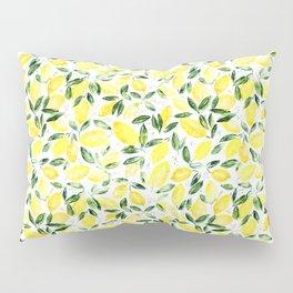 So luscious lemons || watercolor Pillow Sham