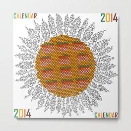 Calendar 2014 - Sunflower Metal Print