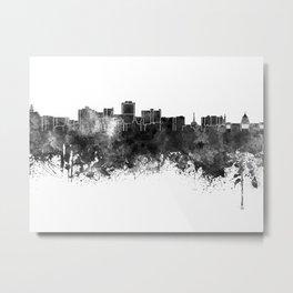 Jackson skyline in black watercolor Metal Print
