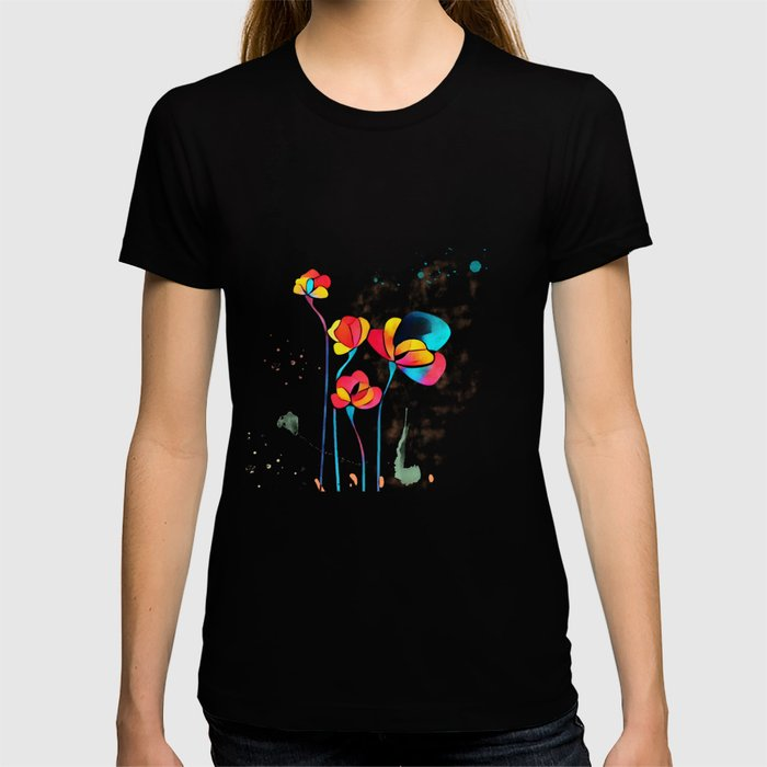Exotic Watercolor Flower T-shirt