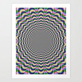 Neon Pulse Art Print