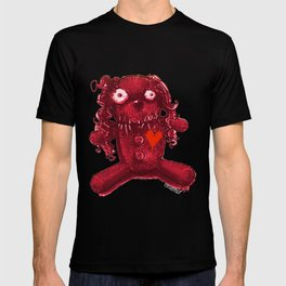 voodoo baby red heart T-shirt