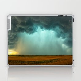 Open the Heavens - Panoramic Storm with Teal Hue in Northern Oklahoma Laptop & iPad Skin