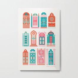 Moroccan Doors – Watermelon Palette Metal Print