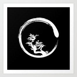 Zen Circle Bonzai Art Print