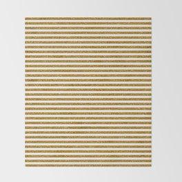 Gold Glitter Stripes Throw Blanket
