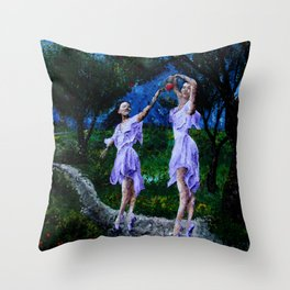 dancing in the garden of delights remix Throw Pillow