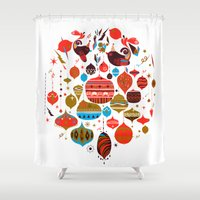 xmas Shower Curtains featuring xmas by echo3005