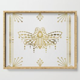 Death's Head Hawkmoth – Gold Palette Serving Tray