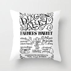 Diagon Alley Farmers' Market Throw Pillow