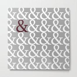 Ampersands Metal Print