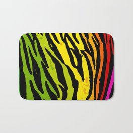 Rainbow Tiger Bath Mat