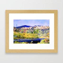 Catanzaro: view of the city with bridges Framed Art Print