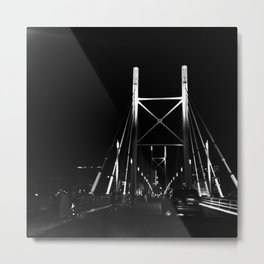 #56Photo #CriticalMass #GoodFridayAdventure #JoziAtNightOnABike Metal Print