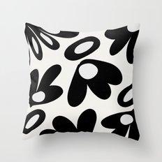 ink flower petals Throw Pillow