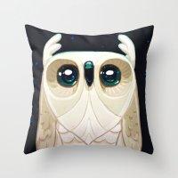 Starla the Owl Throw Pillow