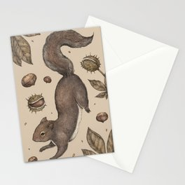 The Squirrel and Chestnuts Stationery Cards