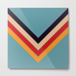 V Shape Colorful Retro Stripes Eopsin Metal Print