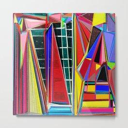 Jagged Dream Colors, Abstact Art Metal Print