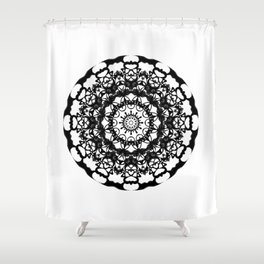 Solar Plexus Mandala Shower Curtain