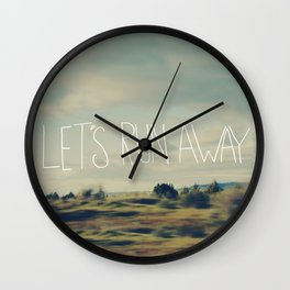 Let's Run Away Wall Clock