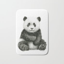 Panda Baby Watercolor Bath Mat