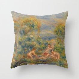 """Auguste Renoir """"Étude de baigneuses"""" Throw Pillow"""