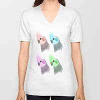 popart V-neck T-shirts featuring Popart Birds by TaylorHerman_Art