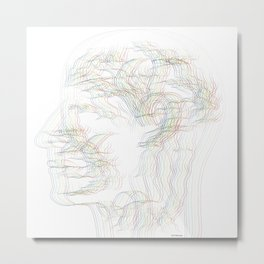 The digital drawing of human nervous system Metal Print