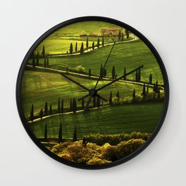 Cypresses Alley Wall Clock