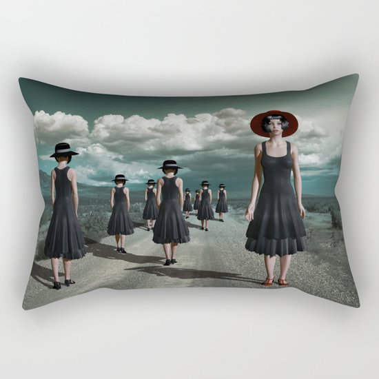 Road of girls Rectangular Pillow