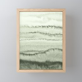 WITHIN THE TIDES - SAGE GREEN by MS  Framed Mini Art Print