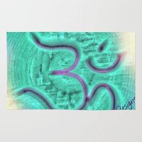 om Area & Throw Rugs featuring Om by NPDesigns
