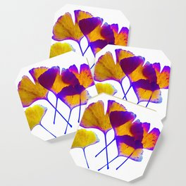 ginkgo biloba leaves Coaster