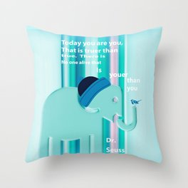 Dr. Seuss Quote 2 Throw Pillow