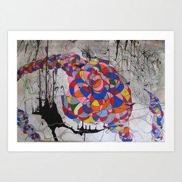 Rainbow vs Tornado Art Print