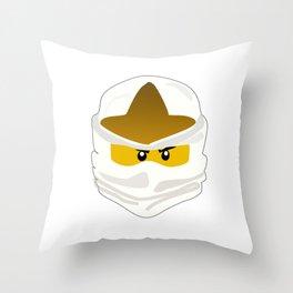 Ninjago Face Zane Throw Pillow