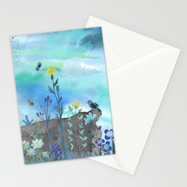 Blue Garden I Stationery Cards