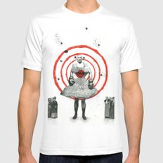 Woman with stones MEDIUM White Mens Fitted Tee