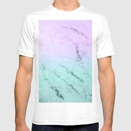 Unicorn Mermaid Girls Glitter Marble #1 #decor #art #society6 T-shirt