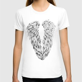 Black and White Angel Wings T-shirt