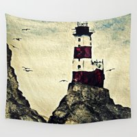 lighthouse Wall Tapestries featuring Lighthouse by Ashley-Caitlynn