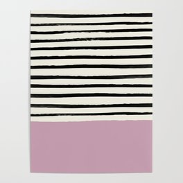 Dusty Rose & Stripes Poster