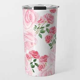pink rose patterns Travel Mug