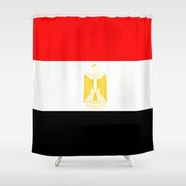 Flag of Egypt Shower Curtain