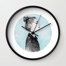Bun girl Wall Clock